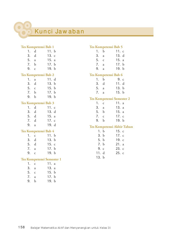 Kunci Jawaban Uji Kompetensi Ips Kelas 9 Bab 3 Guru Ilmu Sosial