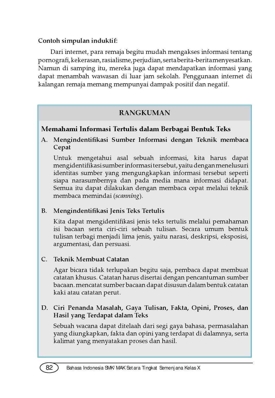 Kelas09 Smk Bahasa Indonesia 1 Irman By S Van Selagan Issuu