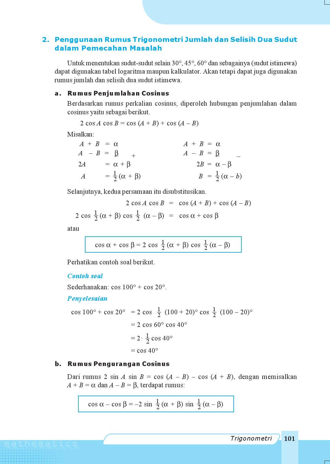 Kelas11 Matematika Ipa Nugroho Maryanto By S Van Selagan Issuu