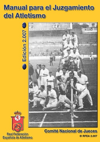 Manual para el Juzgamiento del Atletismo by Comite Nacional de ... f4bc5bc5df7fc