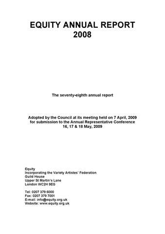 2008 EquityUK Annual Report by Caron Lyon - issuu
