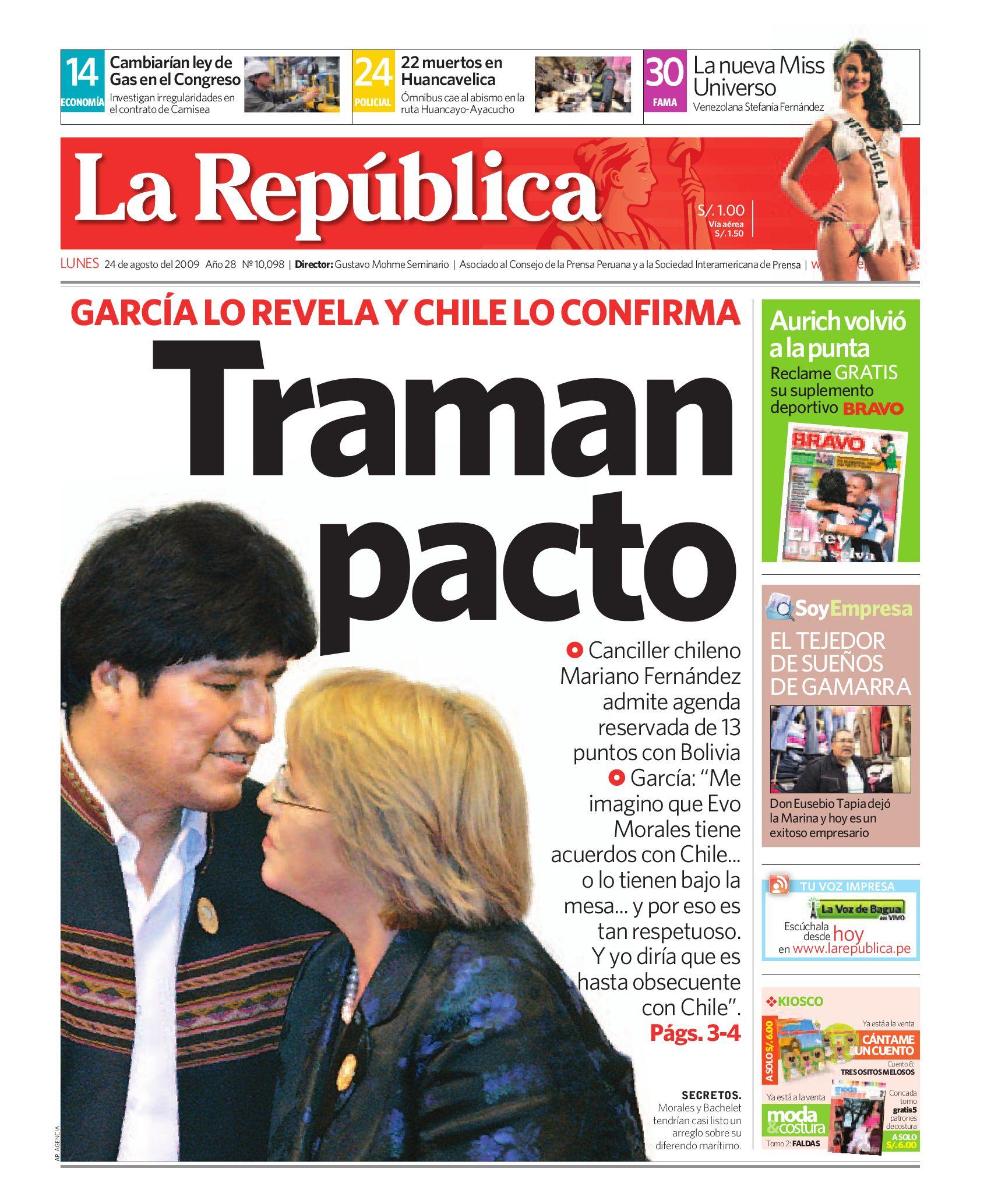 Edici N La Republica 24082009 By Grupo La Rep Blica Publicaciones  # Muebles Ludena Chimbote