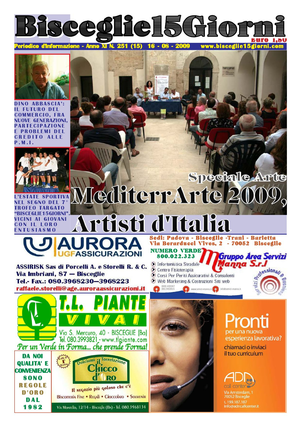 Di Pinto Bisceglie Materiale Edile bisceglie 15 giorni n. 251 del 16 agosto 2009 by salvatore