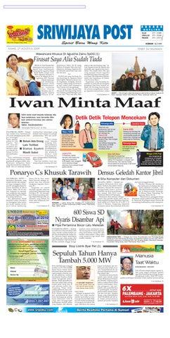 Sriwijaya Post Edisi Kamis 27 Agustus 2009 by Yulius Saputra - issuu f3f3c0c819