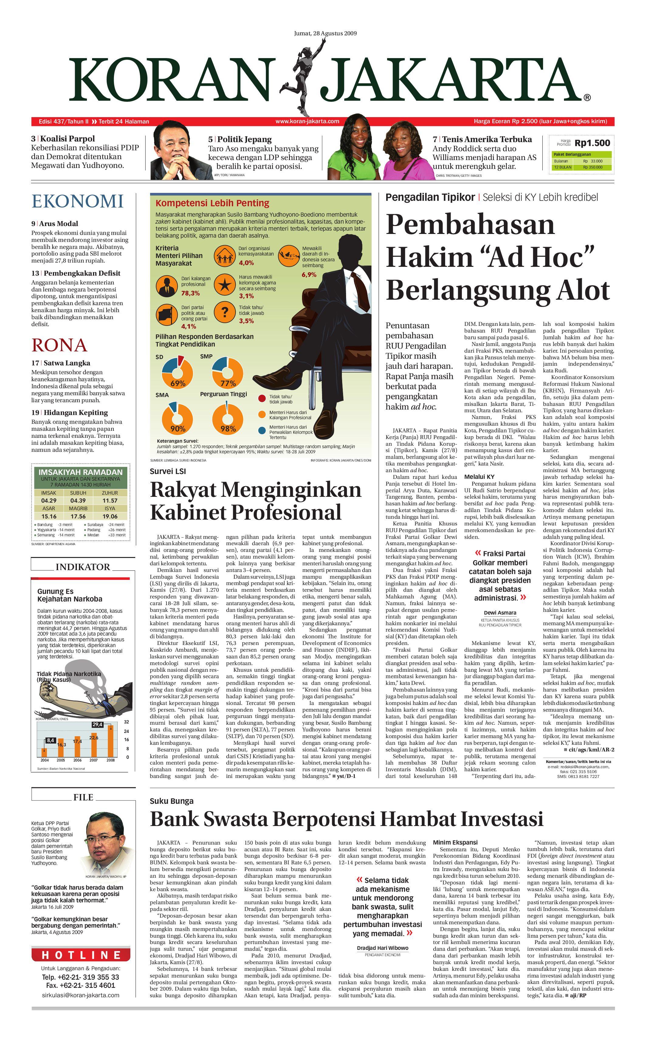 EDISI 437 - 28 AGUSTUS 2009 by PT  Berita Nusantara - issuu