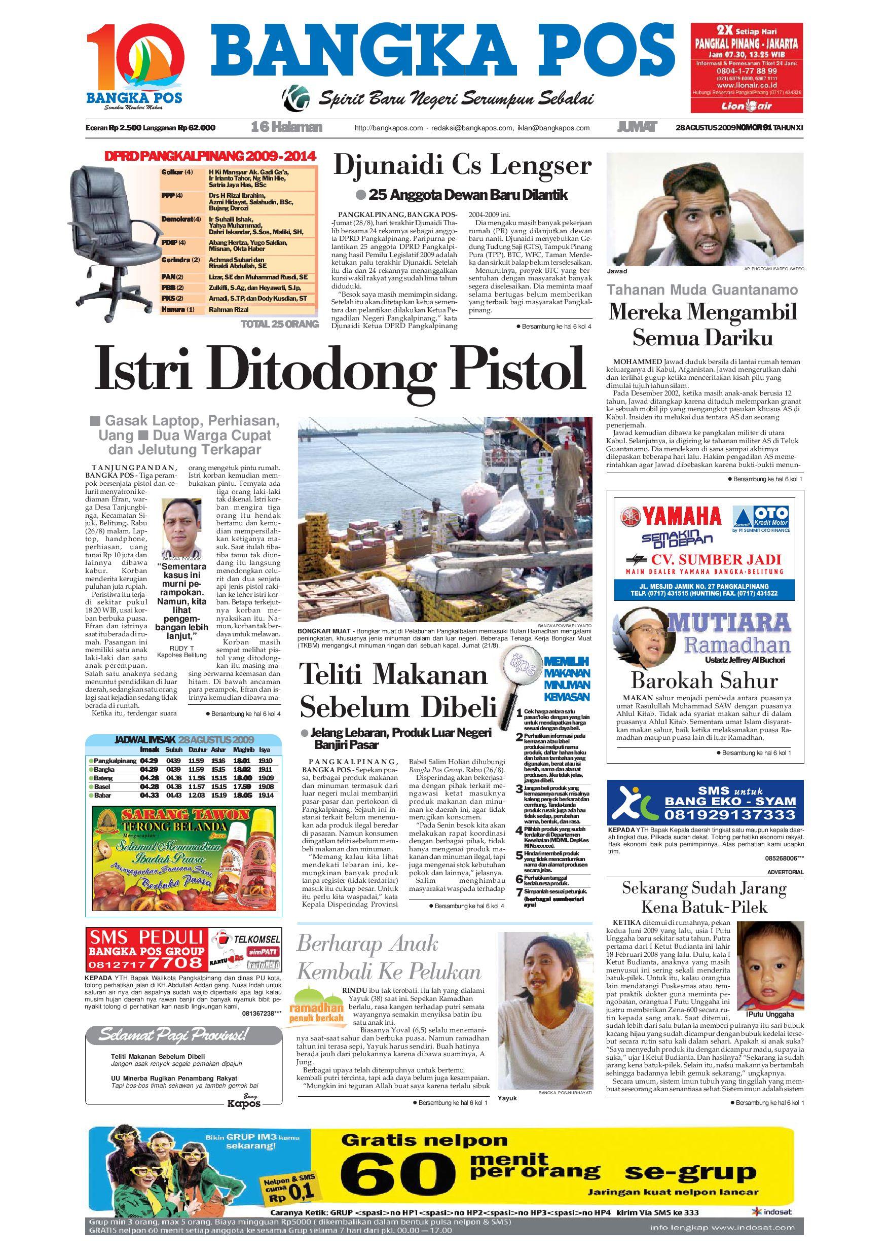 Harian Pagi Bangka Pos Edisi 28 Agustus 2009 By Issuu Parcel Keramik Pja 1644