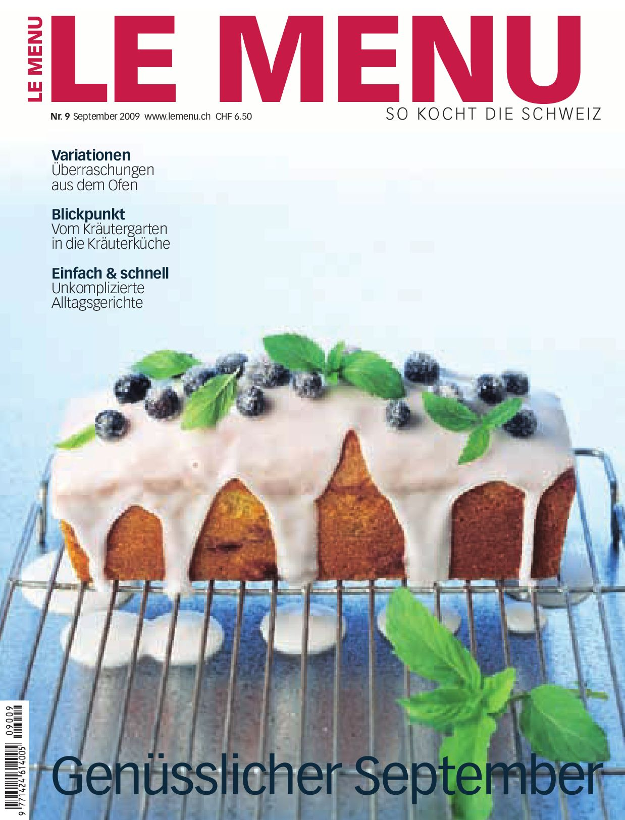 LE MENU September 2009 by George Schifferle - issuu