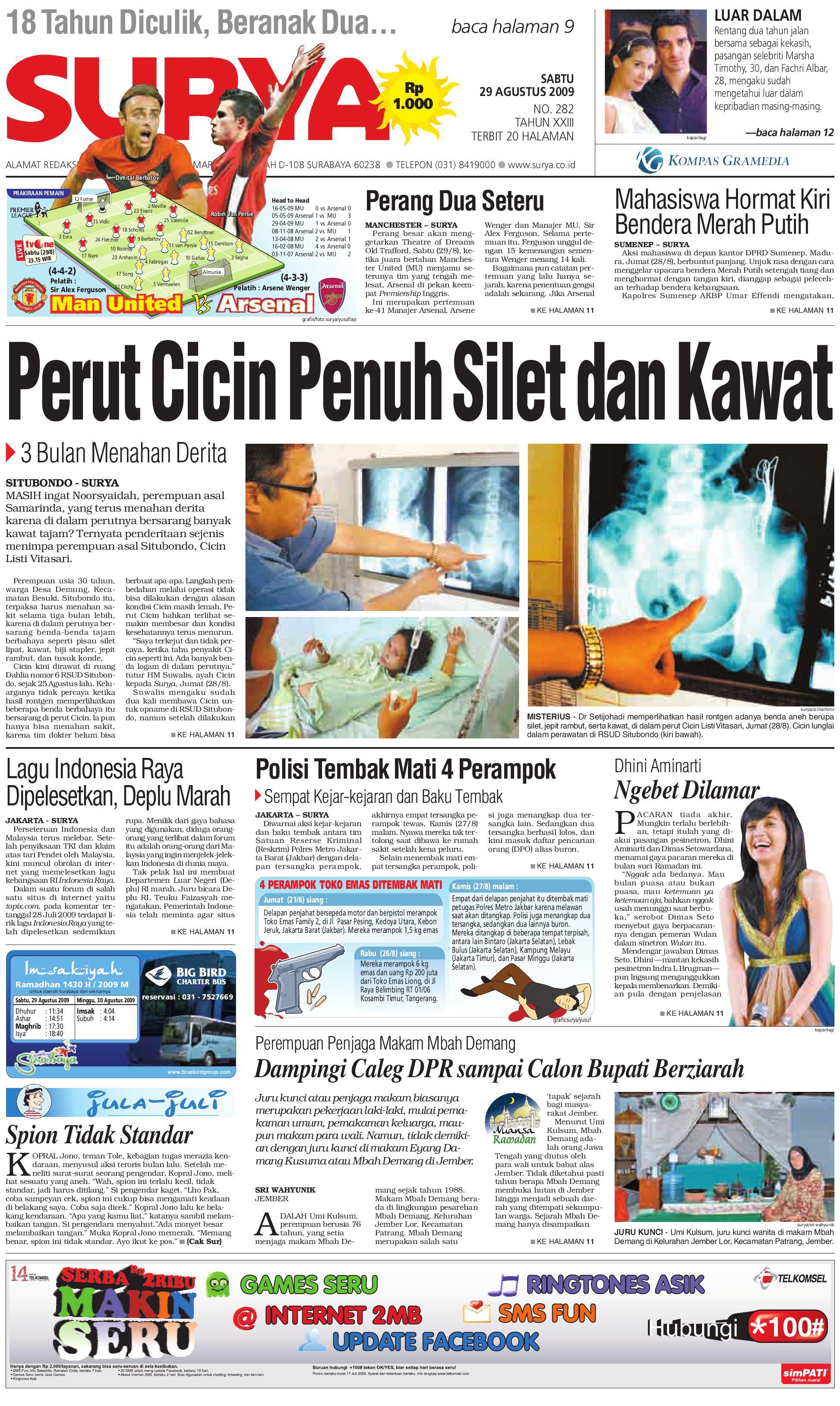 Surya Edisi Cetak 29 Agt 09 by Harian SURYA - issuu 5e123944aa