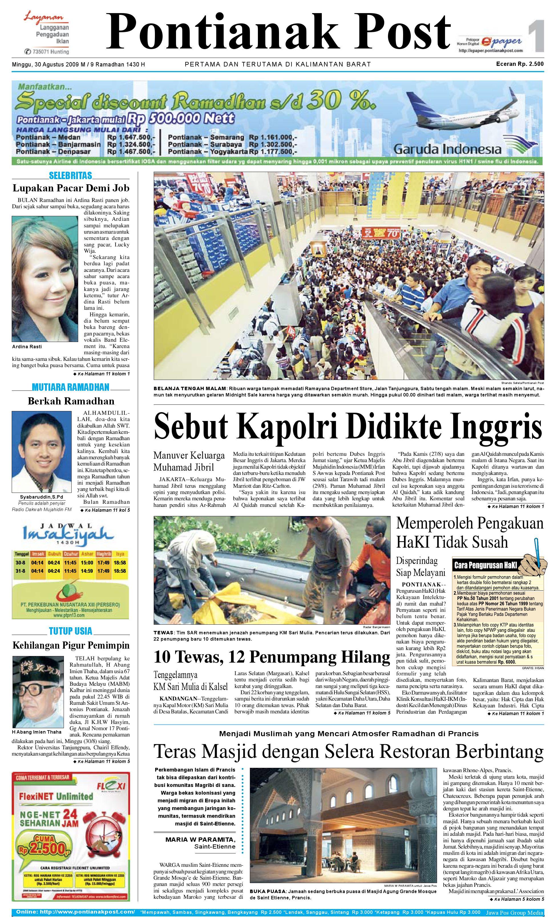 Pontianak Post By Issuu Krezi Kamis 29 Jam Tangan Usb Mancis Keren