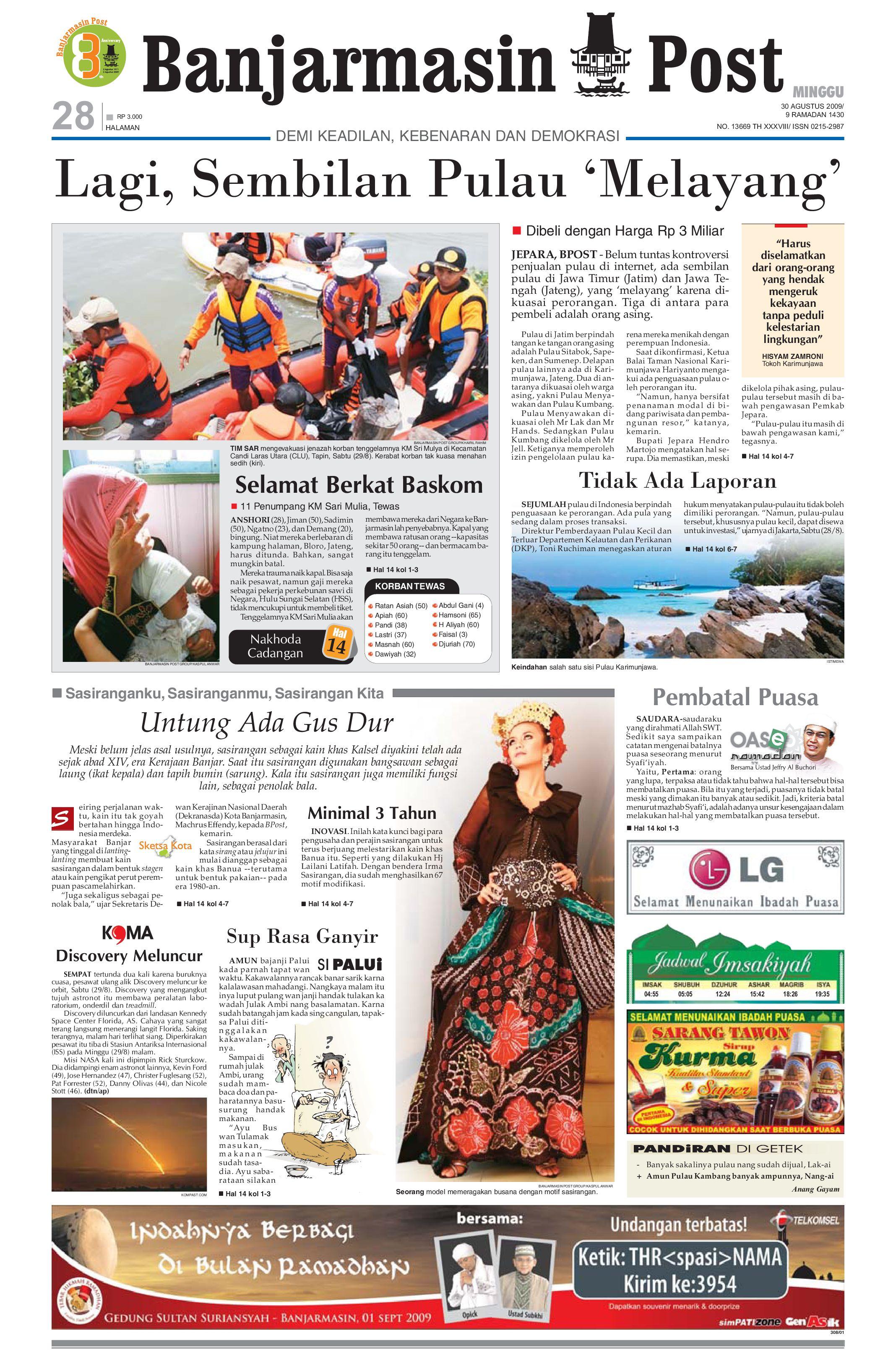 Banjarmasin Post Edisi Minggu 30 Agustus 2009 By Tcash Vaganza 28 Sambal Bawang Bu Rudy Khas Surabaya Issuu