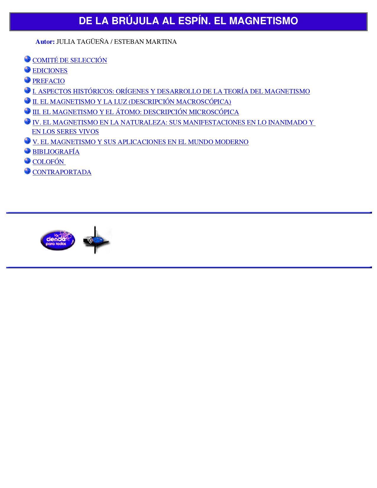 FISICA - De La Brujula Al Espin El Magnetismo by Contexto Inc. - issuu