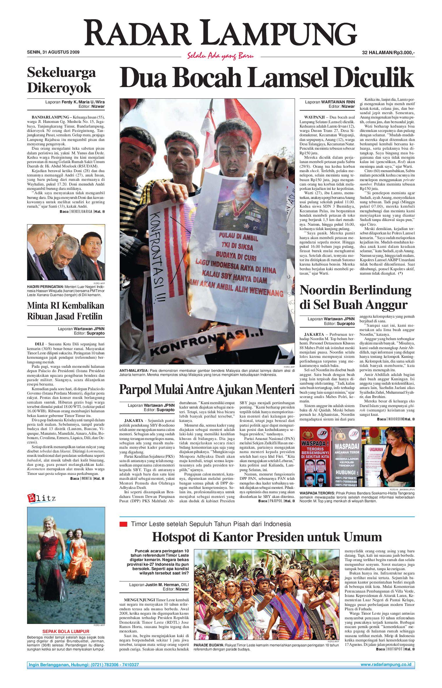 Radar Lampung Senin 31 Agustus 2009 By Issuu Produk Ukm Bumn Box Hantaran Pengantin Bio Art