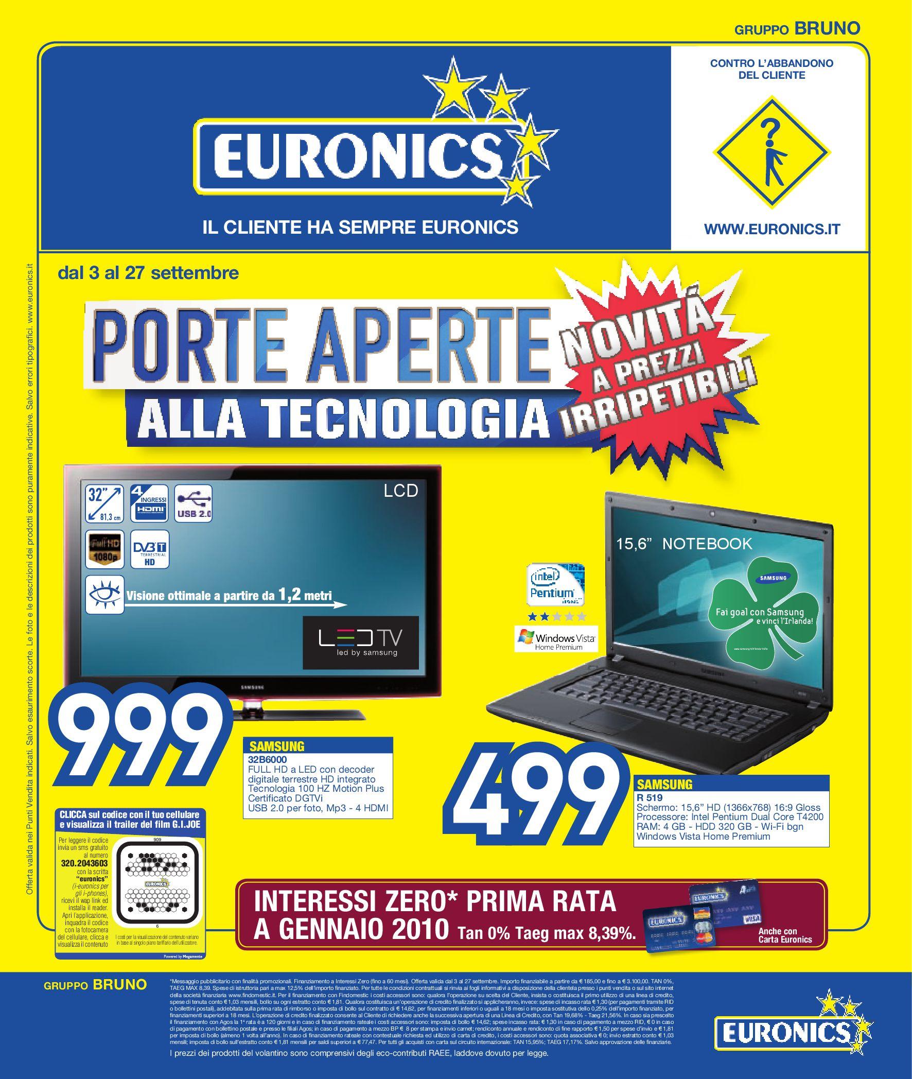 Porta Tv Meliconi Euronics.Volantino Bruno Porte Aperte Alla Tecnologia By Euronics