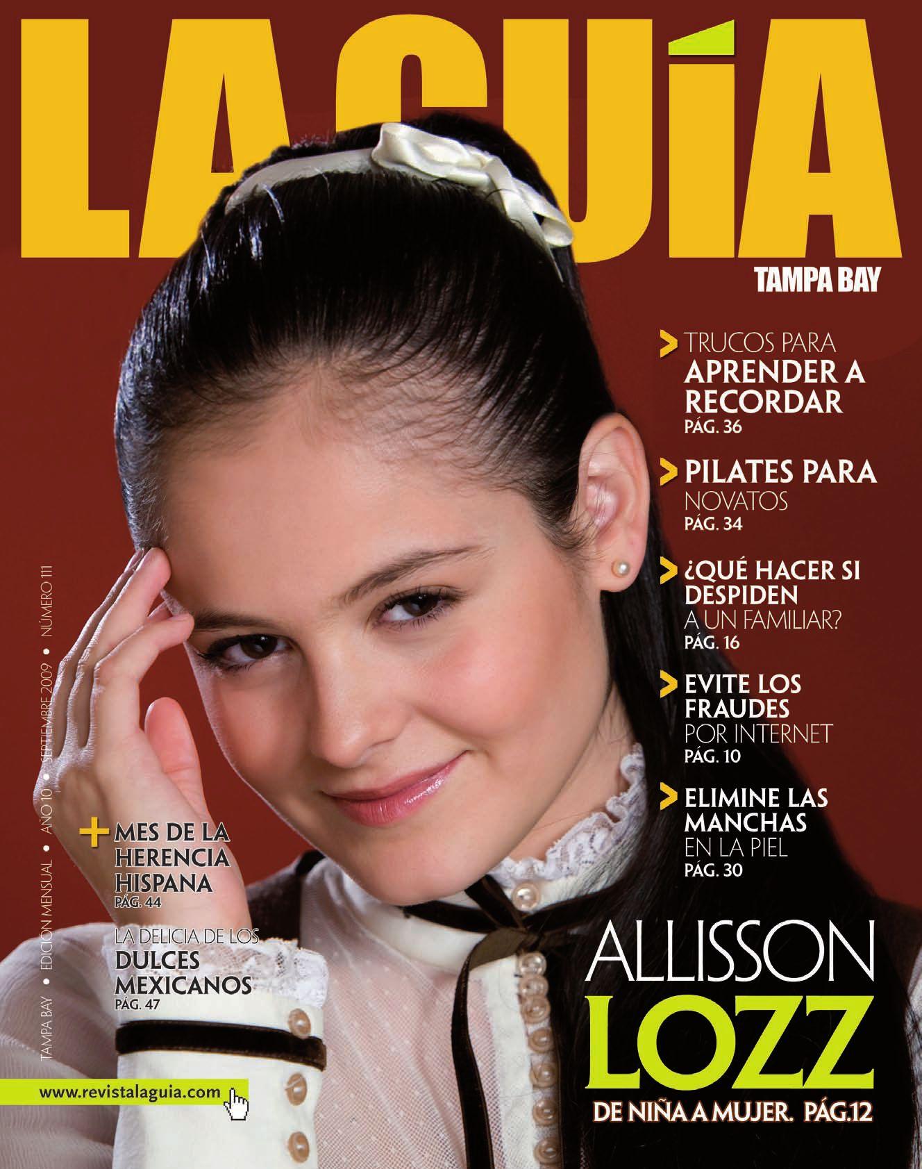 Allisson Lozano la guia tampa bay septiembretv net media group, llc. - issuu
