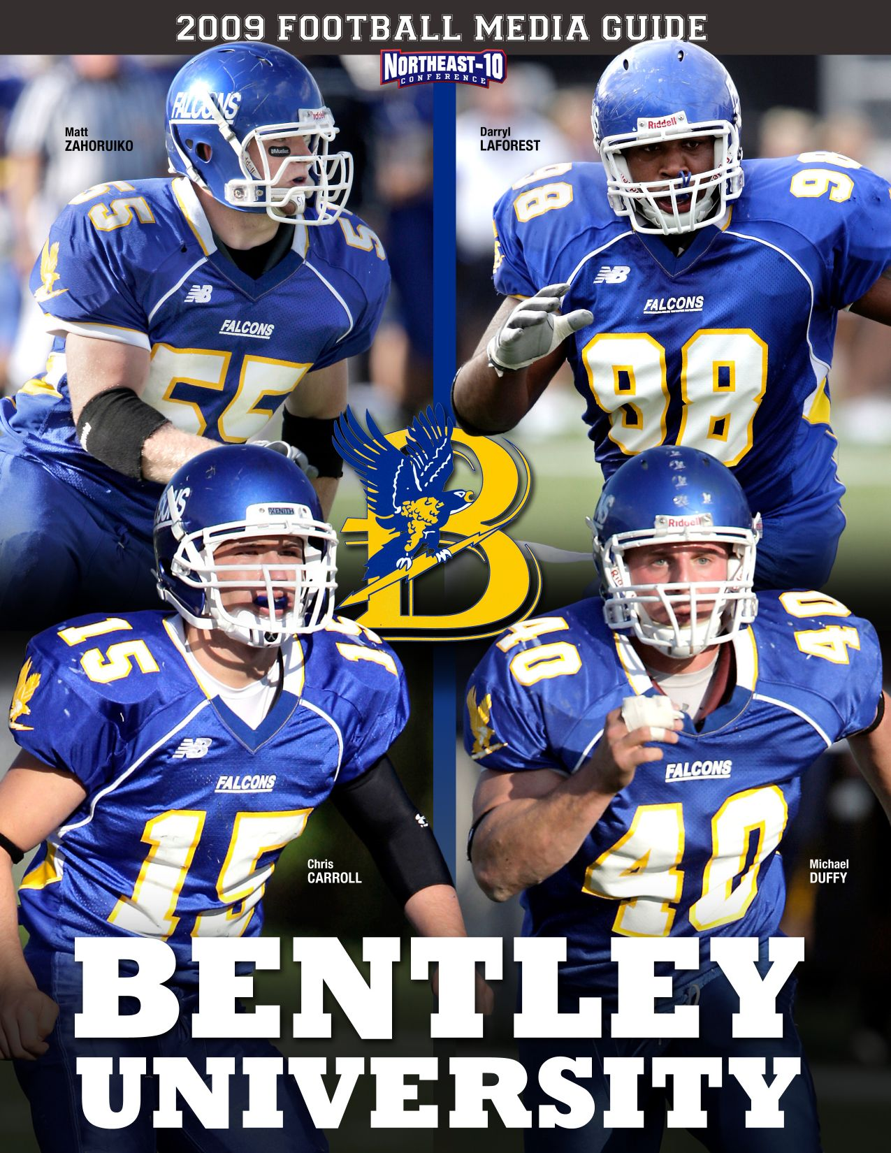 2009 Bentley University Football Media Guide By Dick Lipe