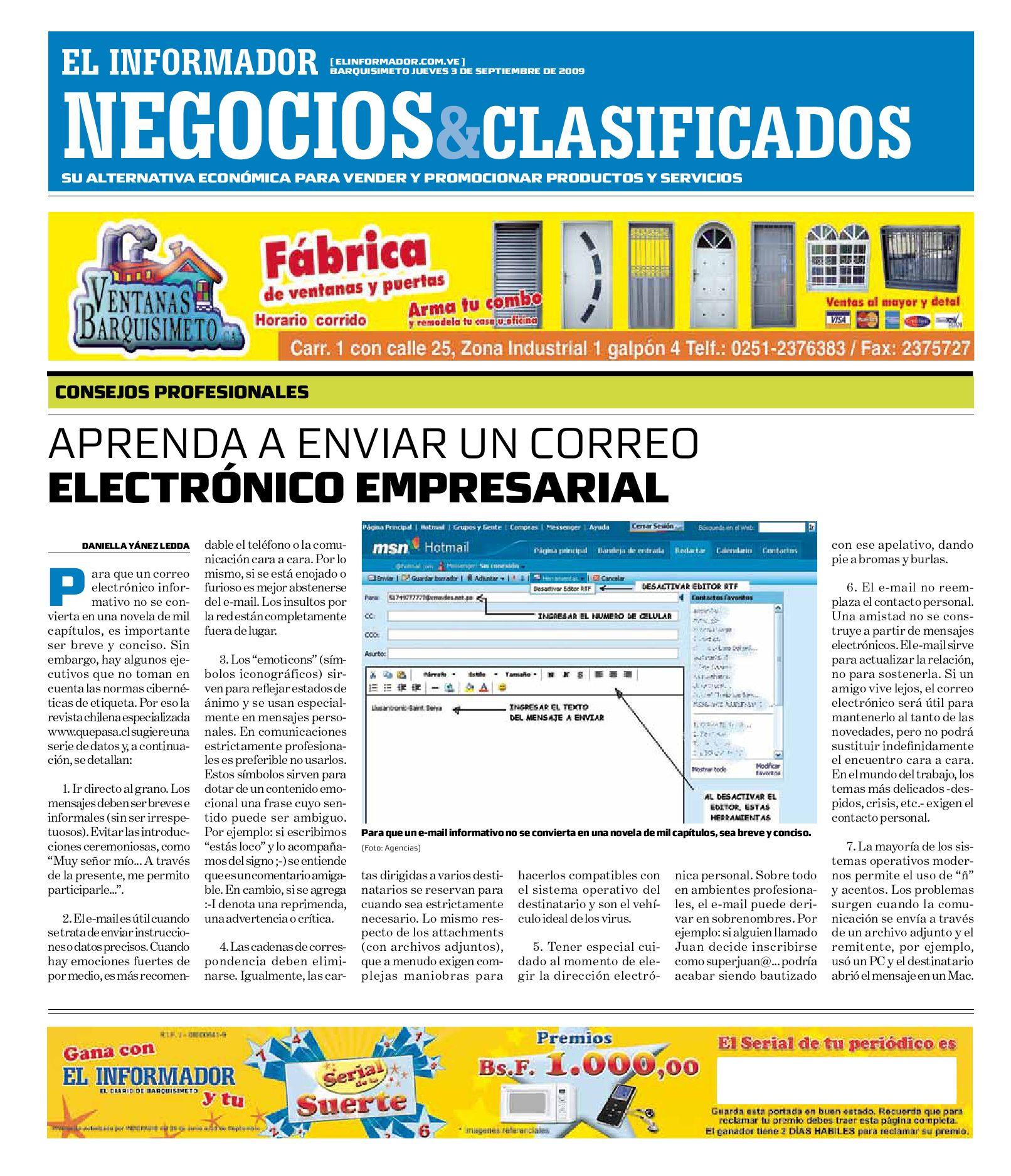 negocios y clasificados 2009.09.02 by El Informador - Diario online ...