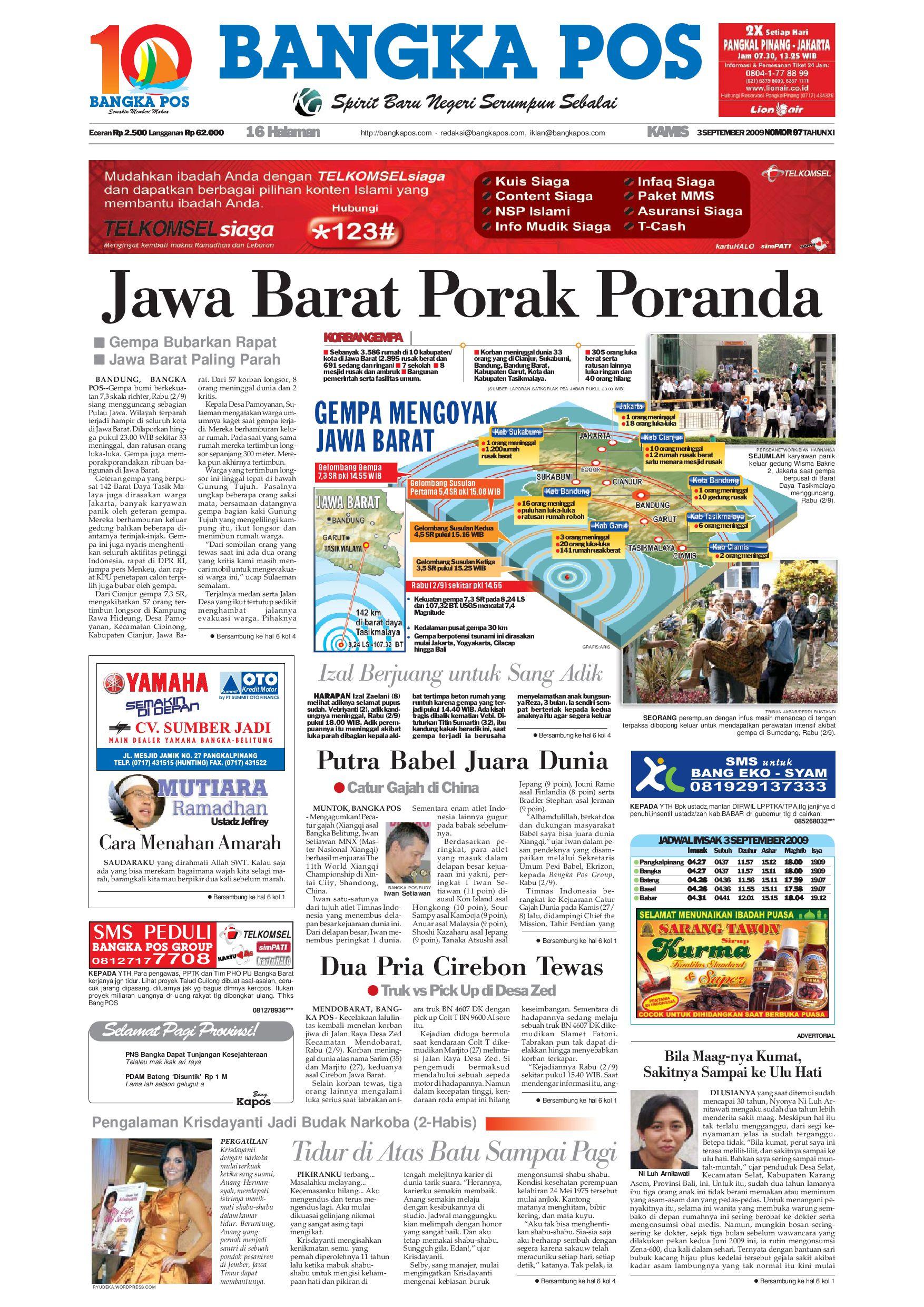 Harian Pagi Bangka Pos Edisi 03 September 2009 by bangka pos - issuu 9916c5066d