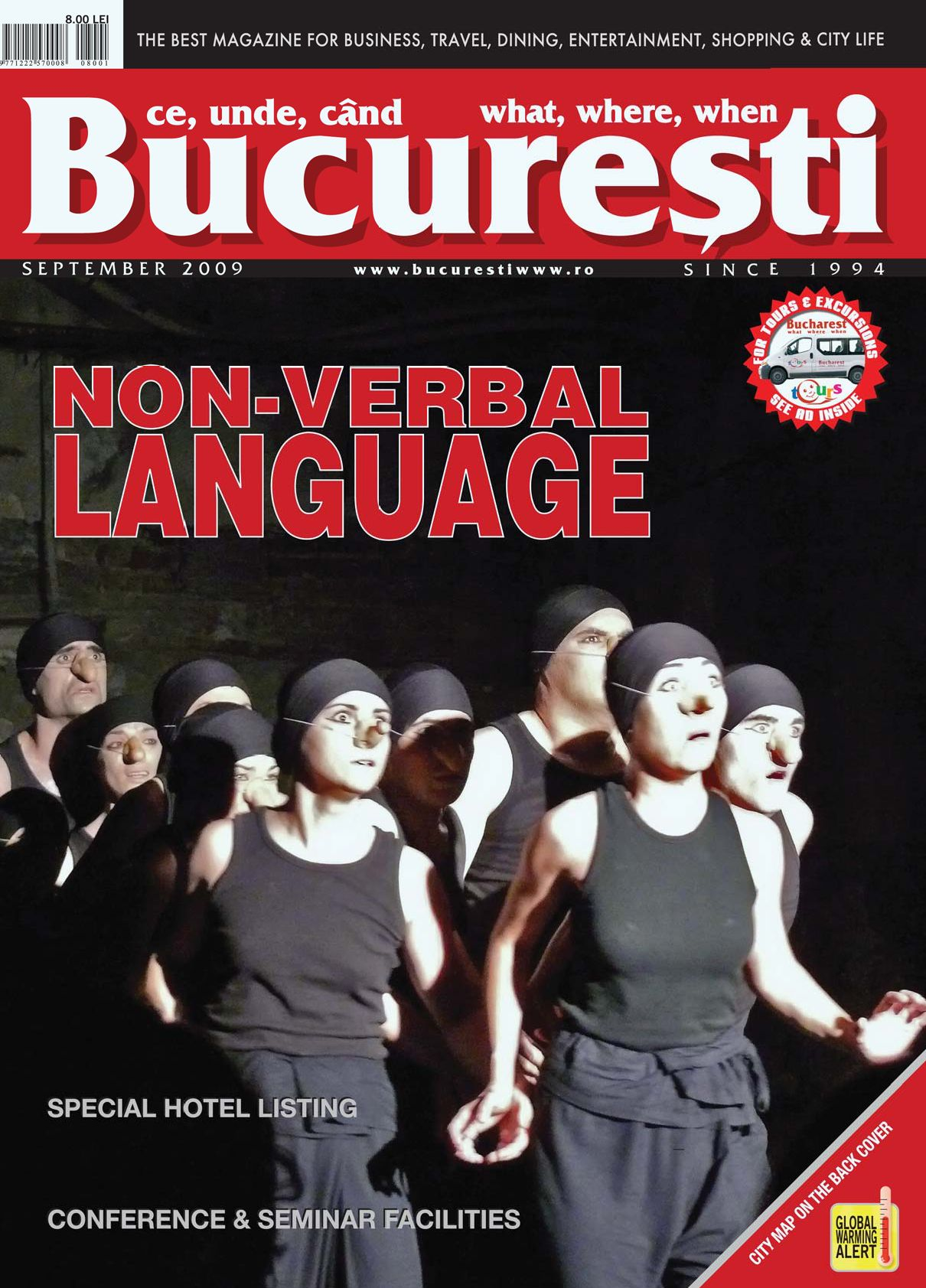 BUCURESTI WHAT, WHERE, WHEN - SEPTEMBER 2009 by CRYSTAL