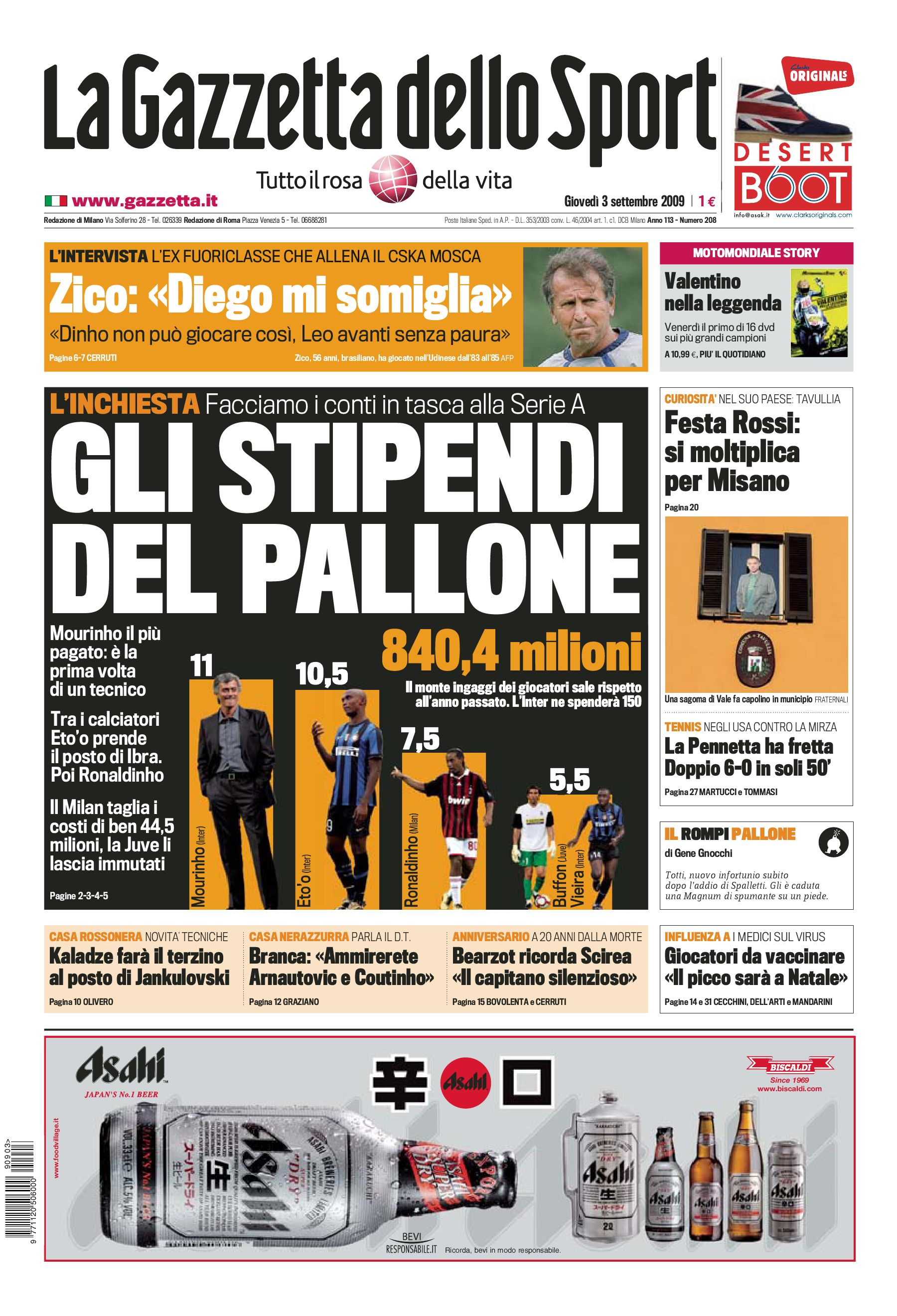 La Gazzetta Dell Sport 0309 By Decuzzo Michael Issuu
