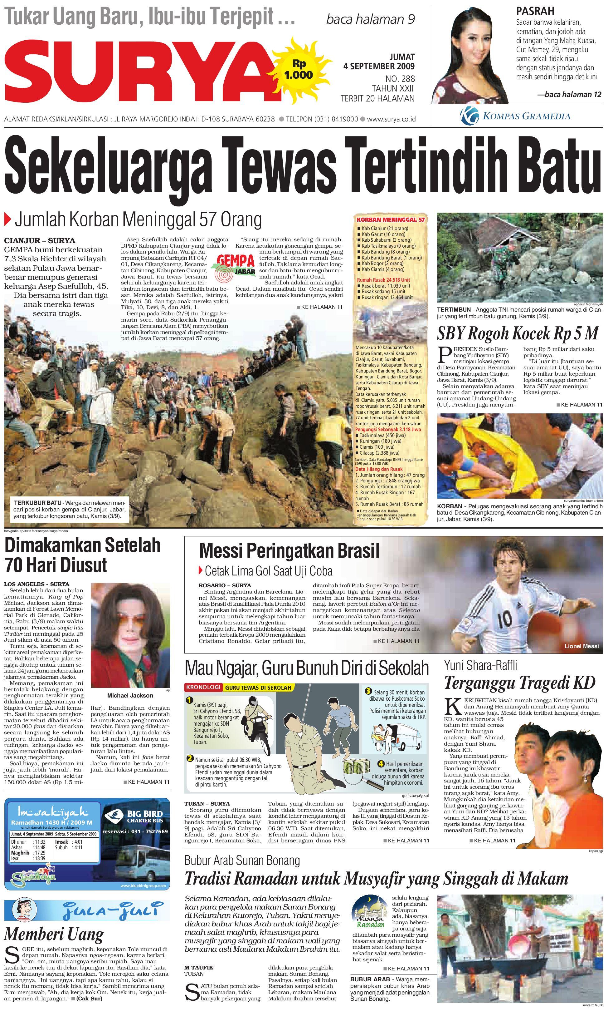 Surya Edisi Cetak 29 Juli 2009 By Harian Issuu Peeredam Guncangan Motor Smash Titan Ukuran 15cm Sepasang 04 Sept 09