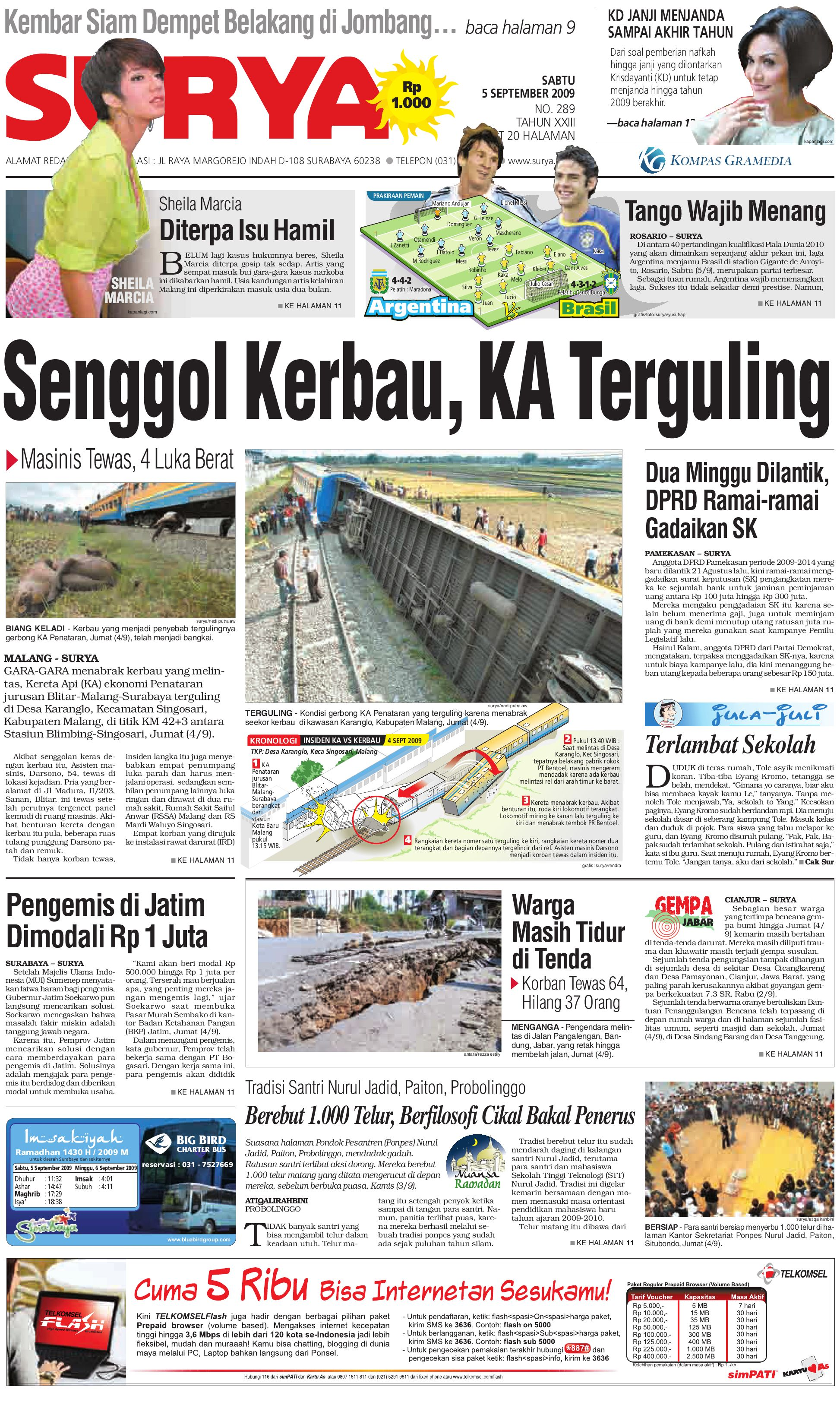 surya edisi cetak 05 sept 09 by harian surya issuu
