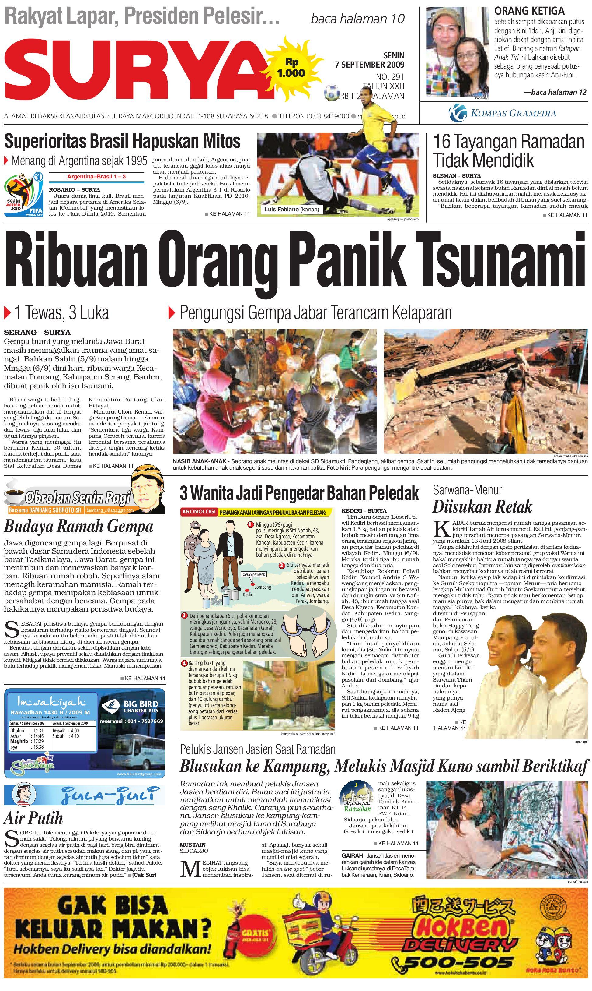 Surya Edisi Cetak 07 Sept 09 By Harian Issuu Kuliner Aneka Sambal Sambel Uleg Ibu Yayuk Bdg