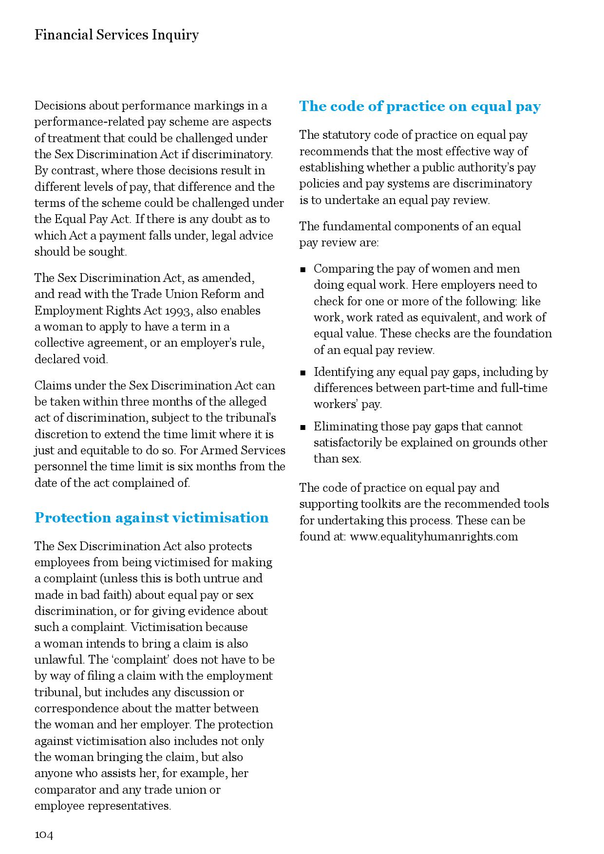 Ehrc Financial Services Inquiry Report By Equality And Human Rights