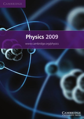 Physics catalogue 2009 by cambridge university press issuu page 1 fandeluxe Image collections