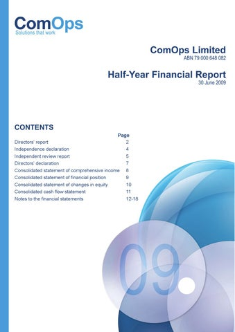 yearly financial report