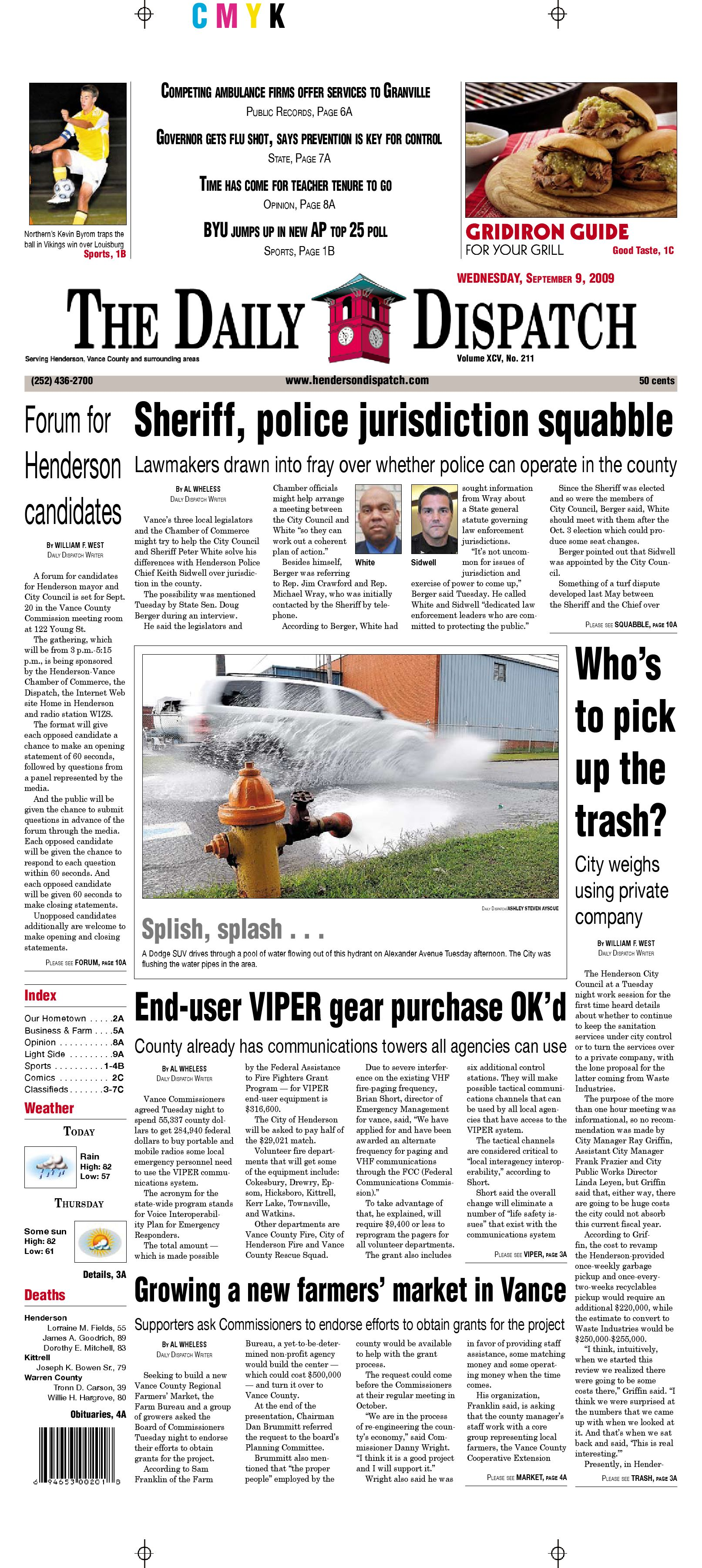 The Daily Dispatch - Wednesday, September 9, 2009 by The