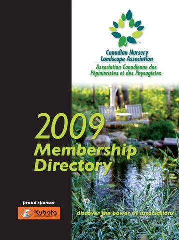 2009 CNLA Membership Directory By Canadian Nursery Landscape