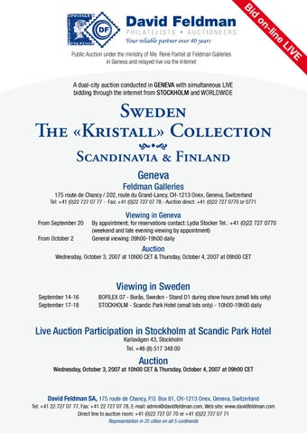 Stamps auction catalogue: Sweden by David Feldman - issuu