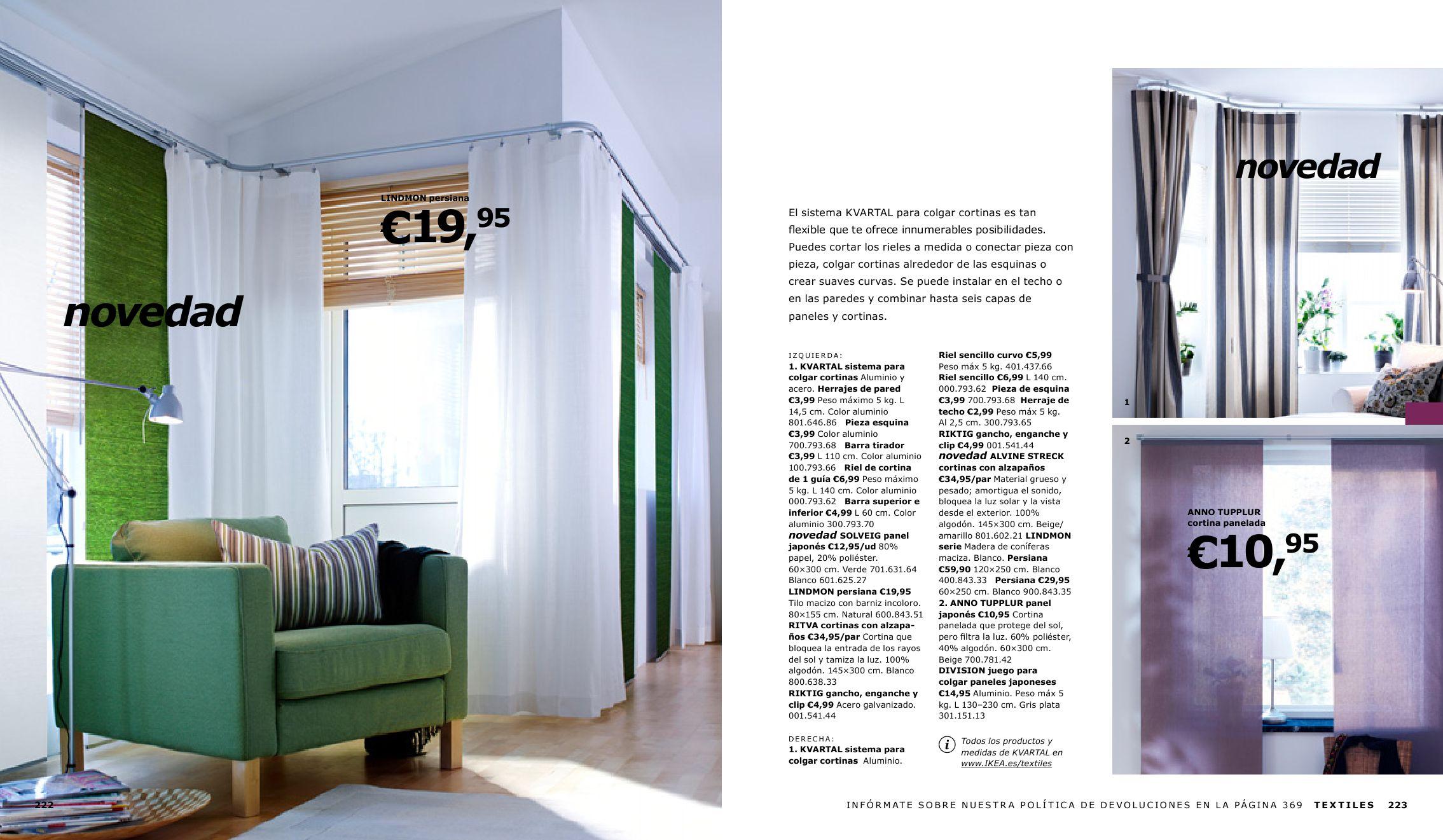 Cat logo ikea 2010 by miguelator issuu - Sistemas para colgar cortinas ...