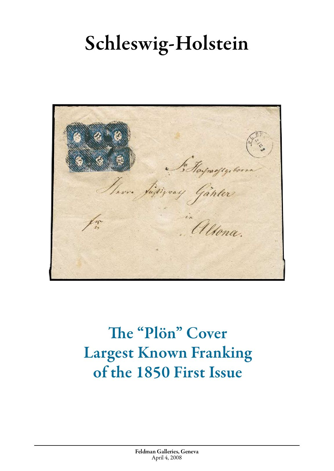 Stamps auction catalogue: Schleswig-Holstein by David