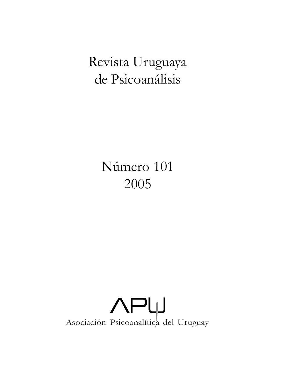 Revista Uruguaya De Psicoan Lisis No 101 By Asociaci N  # Pezzolano Muebles