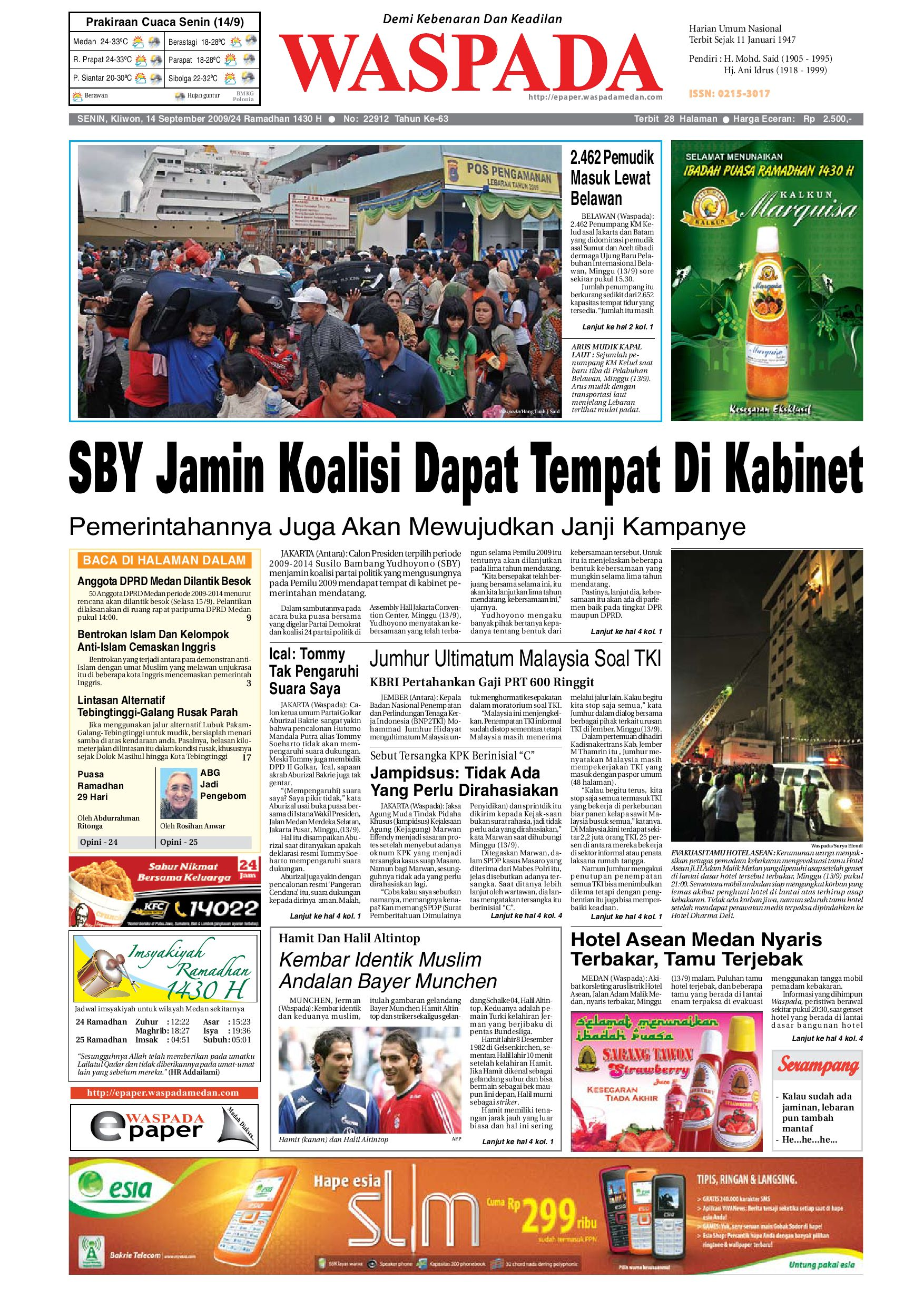 Waspada Senin 14 September 2009 By Harian Waspada Issuu