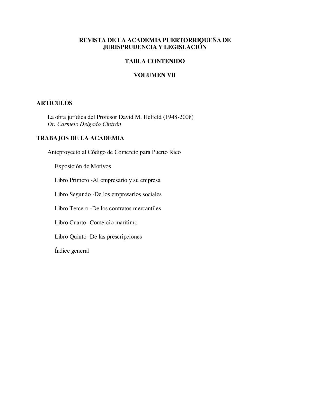 Revista Volumen VII by academiajurisprudenciapr.org - issuu