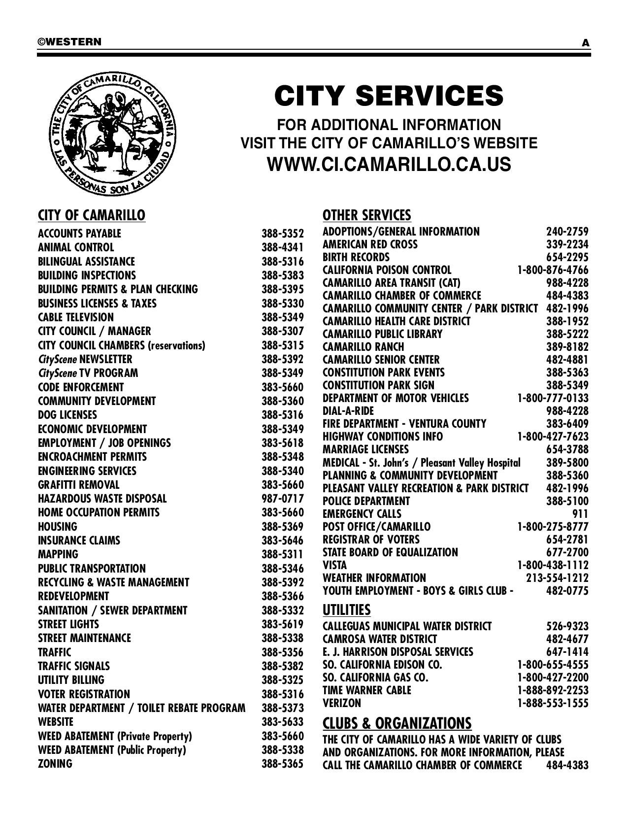 5162a689e231 Camarillo City Directory by Mark Rubin - issuu