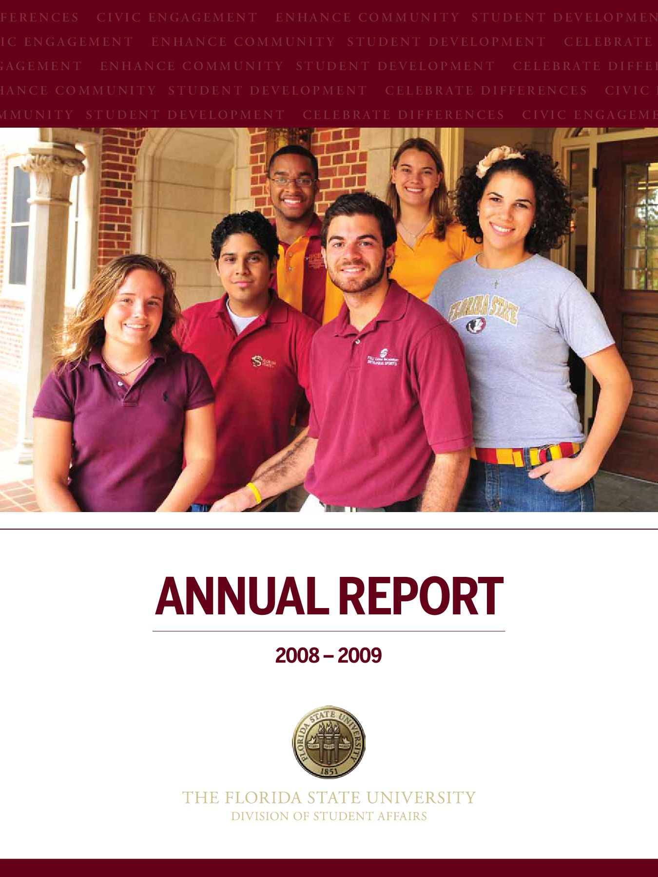 Fsu Division Of Student Affairs Annual Report 2008 2009 By Florida State University Division Of Student Affairs Issuu