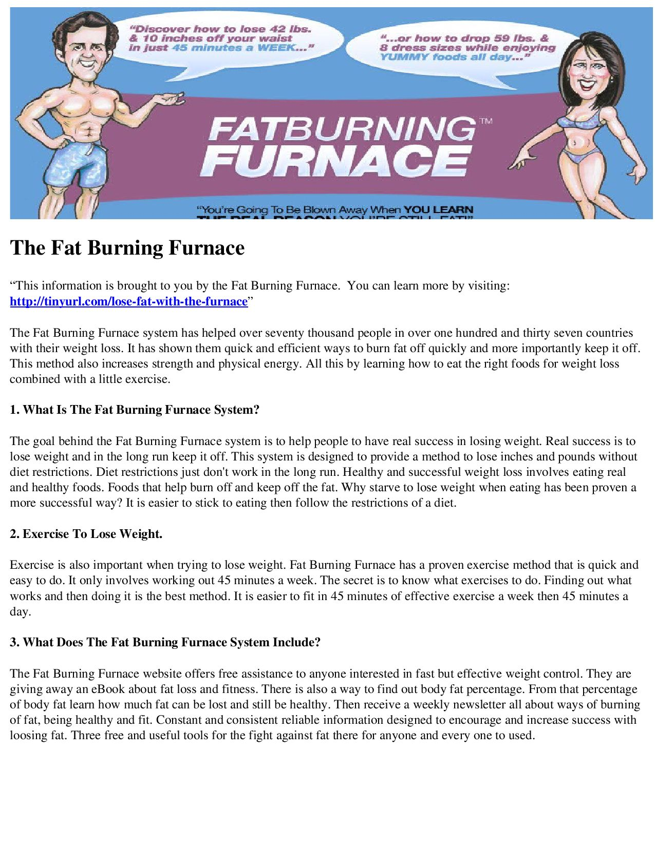 what is the fat burning furnace secret