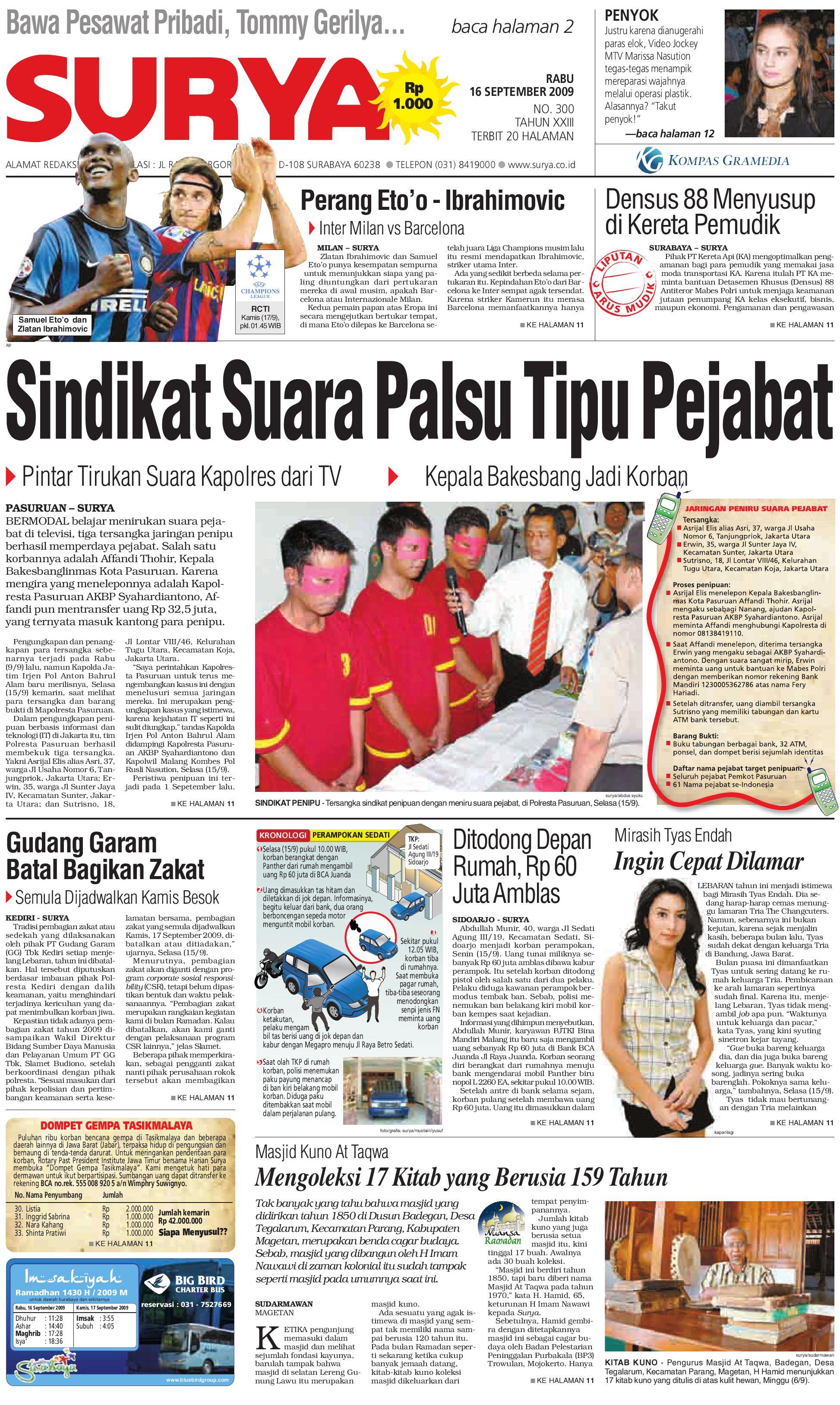 surya edisi cetak 31 juli 2009 by harian surya issuu