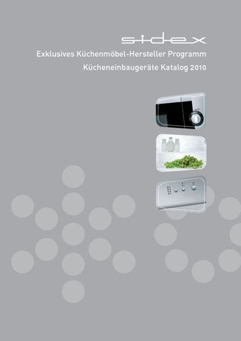Sidex Catalogue Germany By Gorenje D.d.   Issuu