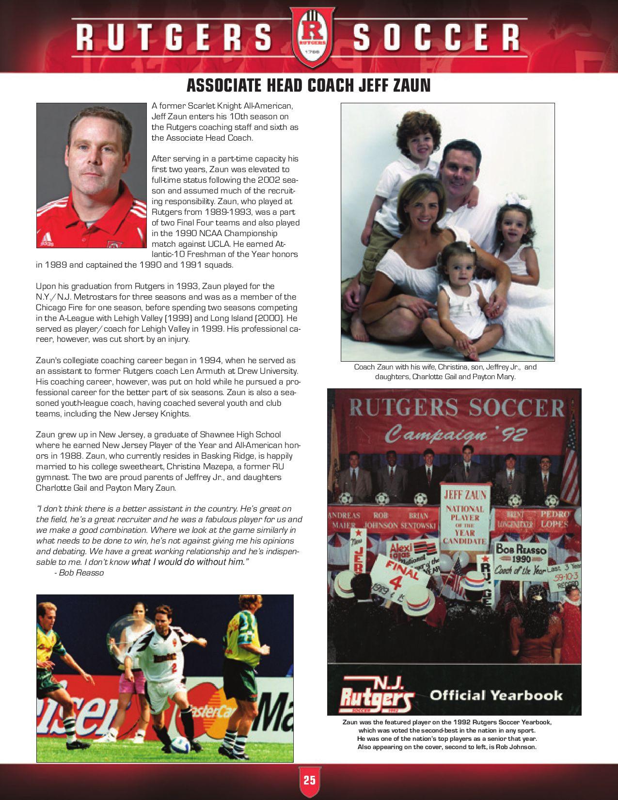 Rutgers Men S Soccer 2009 Media Guide By Rutgers Athletics Issuu