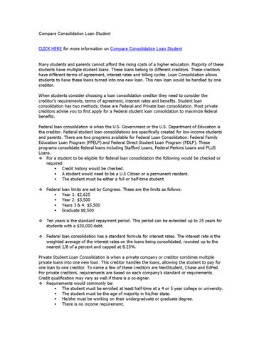 Compare Consolidation Loan Student by des edwards - Issuu