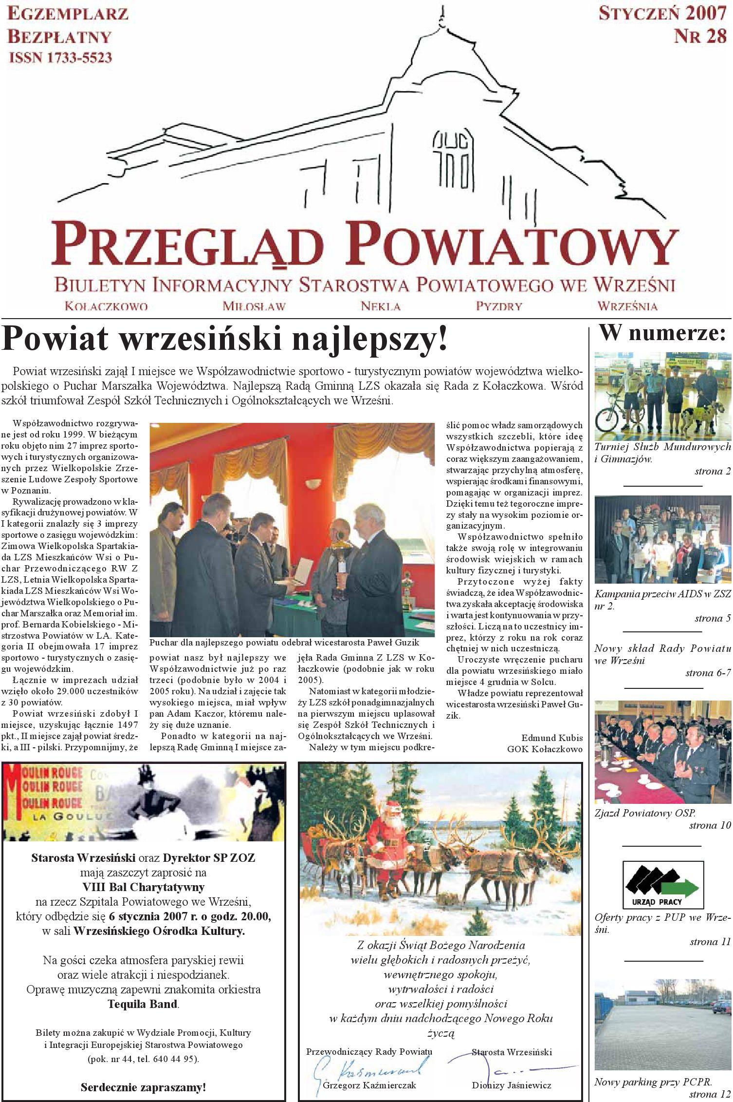 Przegląd Powiatowy Nr 28 Styczeń 2007 By Starostwo