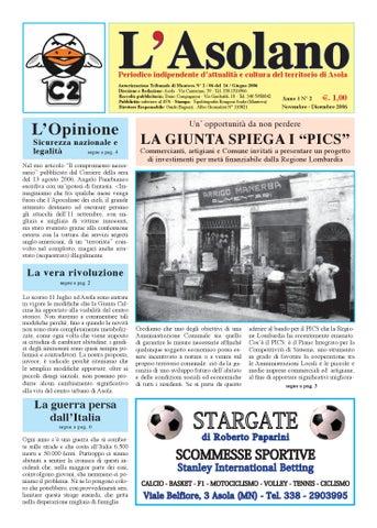 f026fb5df9 L'Asolano N°2-06 by Associazione L'Asolano - issuu
