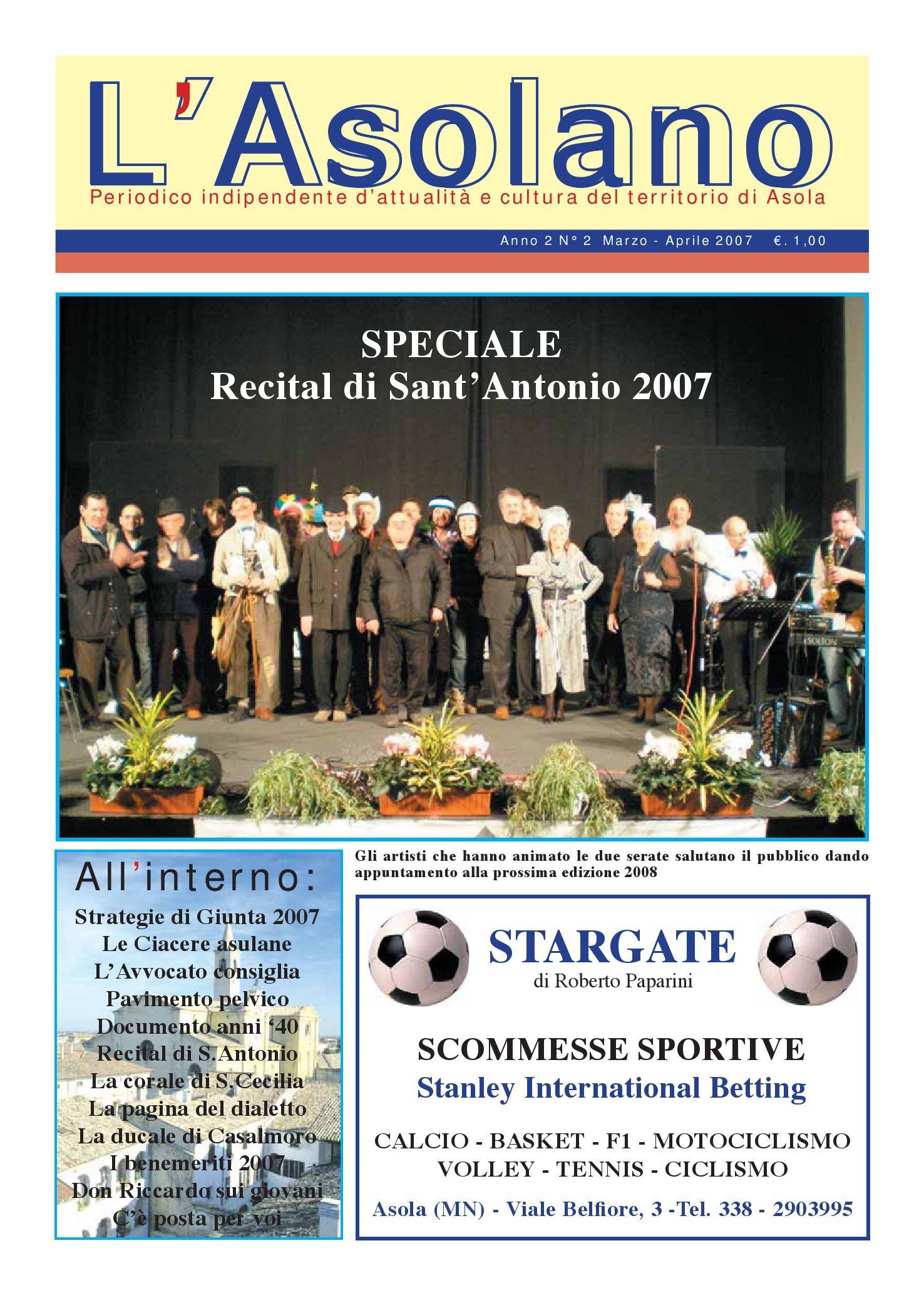 e24389caf7 L'Asolano N°2-07 by Associazione L'Asolano - issuu