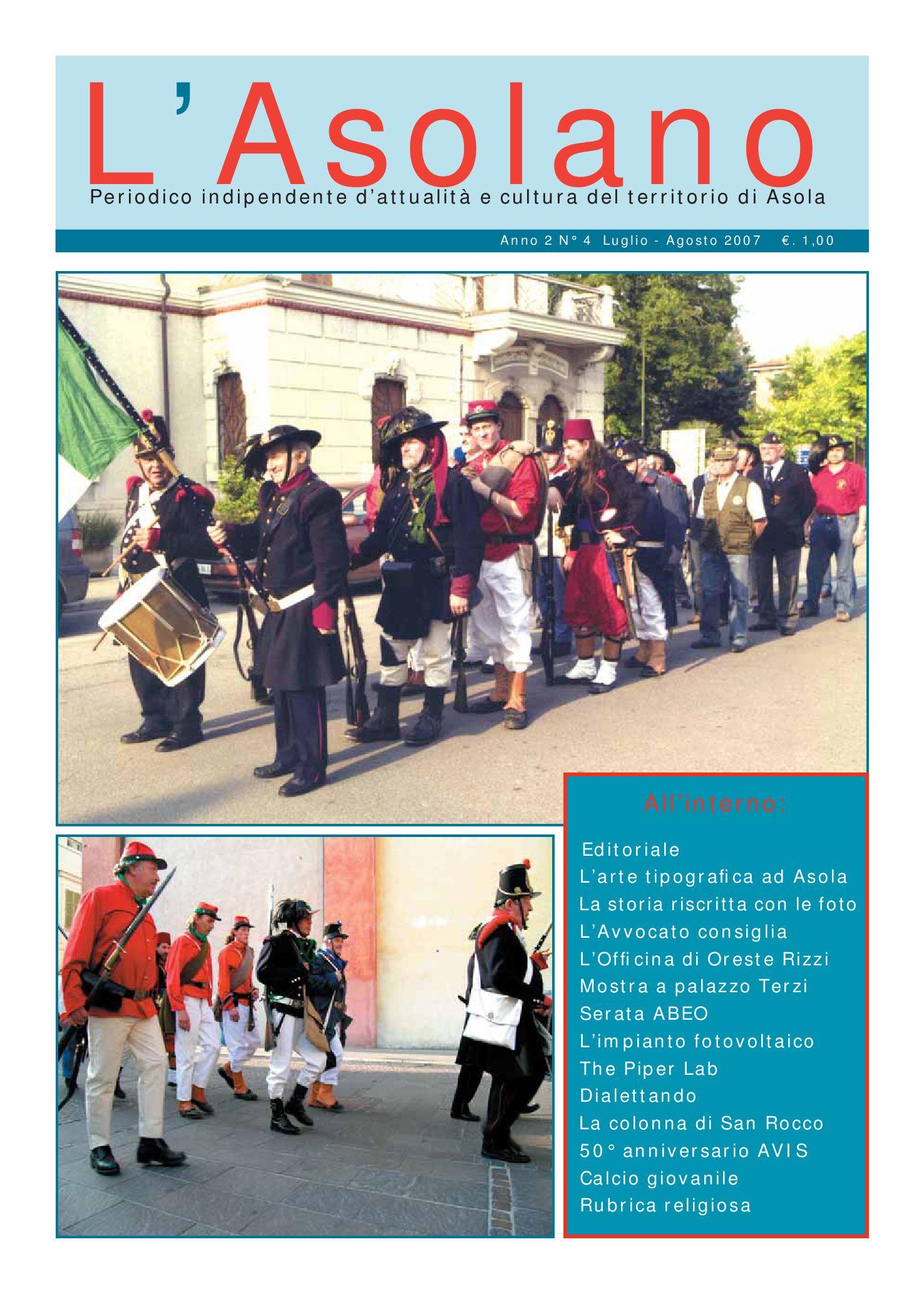 1435a3c966 L'Asolano N°4-07 by Associazione L'Asolano - issuu