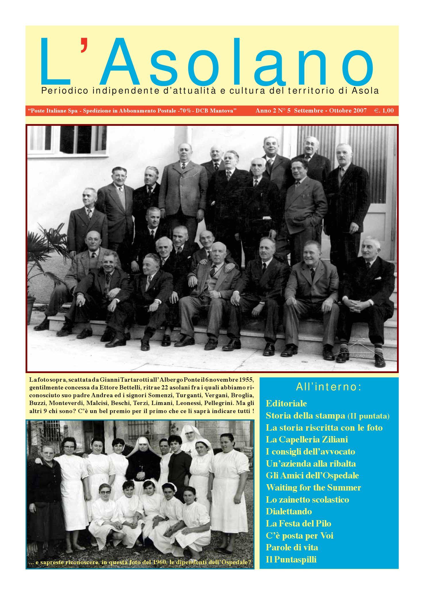 efedc1331f L'Asolano N°5-07 by Associazione L'Asolano - issuu