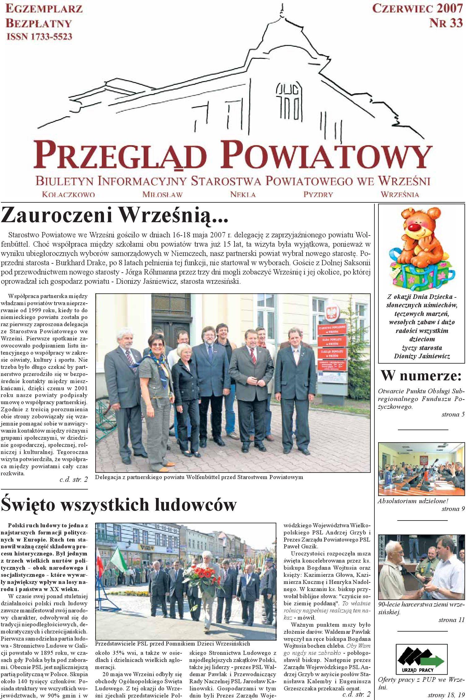 Przegląd Powiatowy Nr 33 Czerwiec 2007 By Starostwo